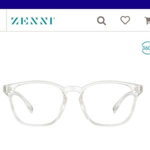 Clear acetate frame glasses from Zenni